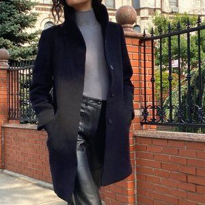 Aritzia Wilfred Jacket Coat Cocoon Wool Black S